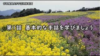 兵庫県職員向け手話研修動画①~基本的な手話を学びましょう~