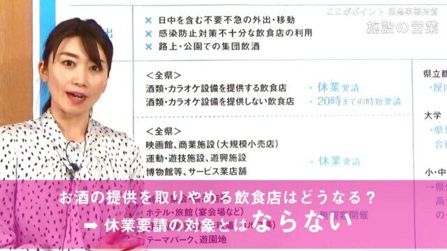 【兵庫県】ここがポイント 緊急事態措置 /施設休業&20時時短要請/学校など