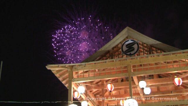 デカンショ祭(花火)②