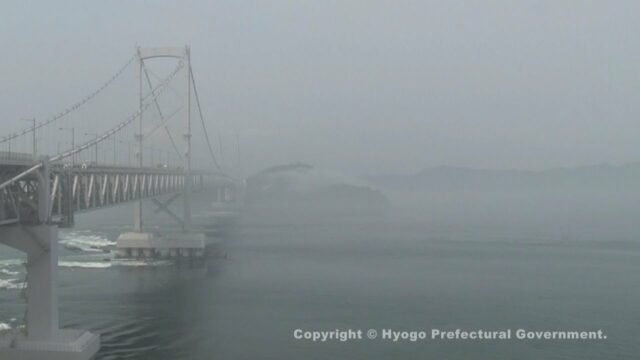 霧の大鳴門橋(淡路島百景)