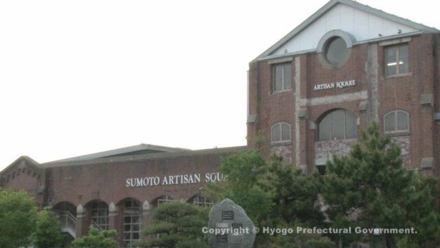 旧紡績工場の赤レンガ倉庫(淡路島百景)
