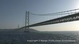 明石海峡大橋(舞子公園・東側からの風景)