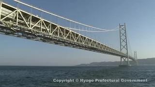 明石海峡大橋(舞子公園・西側からの風景)