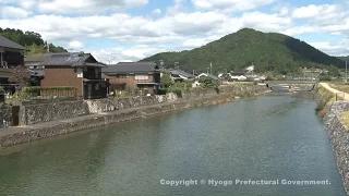 宿場町平福(宿場町の景色)