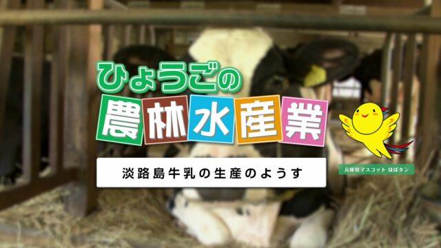 農林水産業副読本視聴覚教材 11『淡路島牛乳の生産のようす』